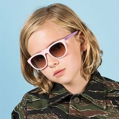 Pretty Pink Bobby Sunglasses by Sons + Daughters Eyewear - Junior Edition www.junioredition.com