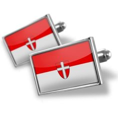 "Neonblond Cufflinks ""Vienna (Service Flag)"" Flag region: Austria - cuff links for man NEONBLOND Cufflinks. $29.90. Unique Gift for the Modern Classic Man. Products are Assembled in America. Standard Size is approximately 19mm x 12mm. We have more then 4000 different Cufflinks. Comes with our Free Velvet / Satin Bag. Save 50%!"