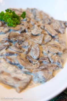 My second favorite ox tongue dish is Lengua in white mushroom sauce. This is a rich and creamy way to cook lengua. It is also known as lengua in white sauce Pork Liver Recipe, Liver Recipes, My Recipes, Beef Recipes, Low Carb Recipes, Cooking Recipes, Favorite Recipes, Beef Tongue Filipino Recipe, Beef With Mushroom