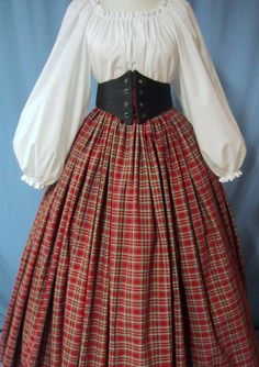 Tartan Plaid Long Skirt RenFaire Costume by stitchintimedesigns, $36.00