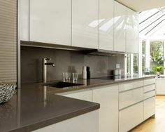 Cute ALNO UK alnouk This high gloss white ALNOART PRO kitchen was designed