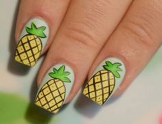 Image via We Heart It #nailart #nails #pineapplenails