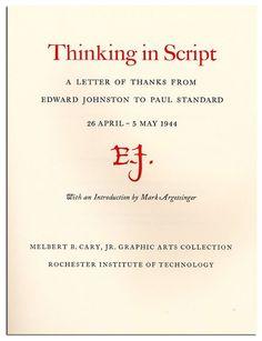 Thinking in Script. -  By Edward Johnston, Mark Argetsinger, David Pankow