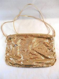 #Vintage Whiting & Davis Gold Mesh Shoulder Bag - Great for evening wear or a formal occasion.  Order today from #LadyLindasLoft and check out our entire collection of #retro inspired handbags, jewelry and more! http://stores.ebay.com/Lady-Lindas-Loft?_rdc=1