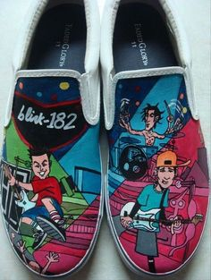 Blink 182 shoes - not gonna lie, I'd totally wear these.