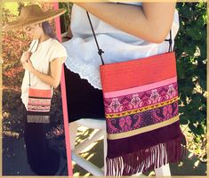 Bitty Boho Bags with Ribbon & Fringe Accents | Sew4Home