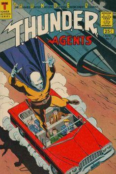 Thunder Agents 7 Good Wally Wood Art T H U N D E R Tower Comics 1966