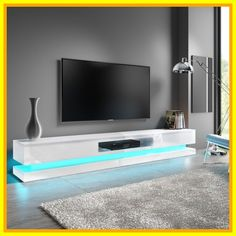 61 white high gloss tv stand with led lights #white #high #gloss #tv #stand #with #led #lights Please Click Link To Find More Reference,,, ENJOY!! Tv Stand With Led Lights, Led Tv Stand, White Led Lights, Tv Stand Luxury, High Gloss Tv Unit, White Tv Stands, Living Room Tv Unit, Tv Unit Design, Entertainment Room