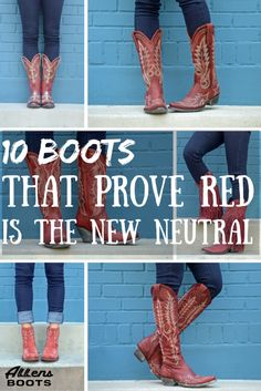 10 Boots That Prove Red is the New Neutral