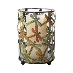 This sterling dragonfly candleholder provides a unique and stylish accent to your interior decor