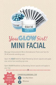 Rodan Fields Mini Facial Instructions You by HoneyMoonApothecary