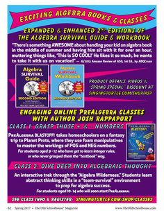Breaking the barrier use coupon code osm10 to receive 10 off our exciting algebra books and classes the old schoolhouse magazine spring 2017 page fandeluxe Gallery