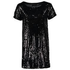 Wunderschönes leid in chwarz von Even&Odd. Mit den Allover-Pailletten und dem lässigen Schnitt sorgt dieses Kleid für einen stylischen #Look. Die Party kann beginnen! ♥ ab 27,95€
