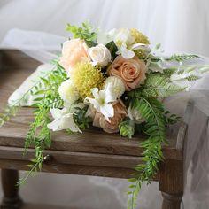 Wedding Bouquet Elegant Champagne Rose Bridal Bouquet 11