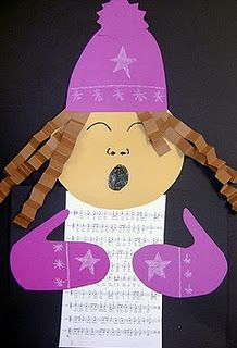 Christmas Carolers Craft - cute idea for childrens choir @Kristin Yeldell @Danielle Bockus