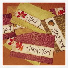 """Making """"Thank You"""" cards"""
