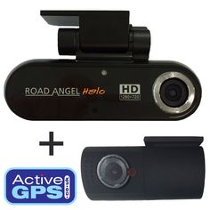 Road Angel Halo accident camera provides both a front and read cameras plus it has built-in GPS that will work with Google Maps on your computer as well as offer playback of video on your Windows PC. The Halos front camera records in High Definition at 1280p x 720p and the rear camera records at 640p x 480p. It is the only in-car camera to record with a viewing angle of 150 degrees offering a wide view of the road ahead and behind. Learn more: http://www.activegps.co.uk/road-angel-halo.htm