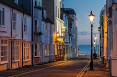 Night falls on Camelford Street in Brighton, East Sussex, England.  - Slawek Staszczuk