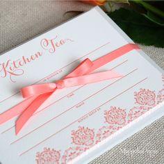 {Kitchen Tea} Letterpress Invitations