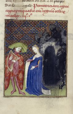 Queen's Book, fol. 126v. Orpheus and Eurydice.