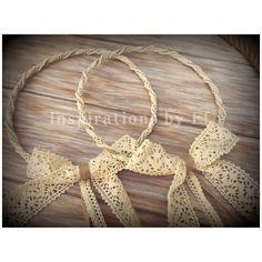 """Ονειρεμένα στέφανα """"Βάλια""""...εμπνευσμένα από την όμορφη νυφούλα μας.. #steafana #wedding #weddingcrowns #handmade #burlap #lace #InspirationsbyEf"""