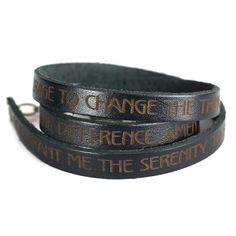 Serenity Prayer, Designer Leather Wrap Bracelet >>> For more information, visit image link.
