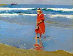 So last week I touched on how to use color harmonies in a painting. Figure Painting, Painting & Drawing, Valencia, Virtual Art, Spanish Painters, Claude Monet, Art Academy, Paintings I Love, Beach Scenes