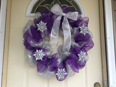 Snowflake Wreath- Great for Christmas time or just for winter $30