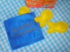 Felt Food: Goldfish Crackers