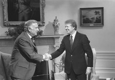 Cronkite and President Carter, 1977