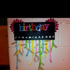Student birthday display
