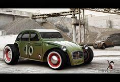 Citroen 2CV Rat Rod!! This could make a cute Derby car