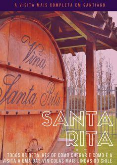 Uma das visitas mais completas a uma vinícola que você pode fazer perto de Santiago. A Santa Rita, além da visita para conhecer o processo, ainda conta com um museu e um bosque maravilhoso. Na foto, a entrada da Vinícola Santa Rita.