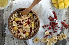 Goji Banana Mango Oats // nutritionstripped.com