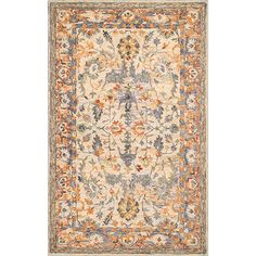 Samantha Beige Rectangular: 5 Ft. X 8 Ft. Rug Nuloom Area Rugs Rugs Home Decor