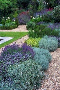 top ideas for low maintenance garden plants . - top ideas for low maintenance garden plants . Landscaping With Rocks, Front Yard Landscaping, Landscaping Ideas, Mulch Landscaping, Mulch Ideas, Mediterranean Garden Design, Garden Design Plans, Yard Design, Design Jardin