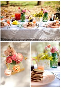 Perfect setting and decor for a post-wedding garden brunch