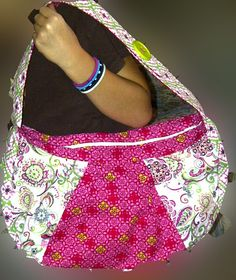 Pink and Green FUN Purse by ChefMama on Etsy, $15.00