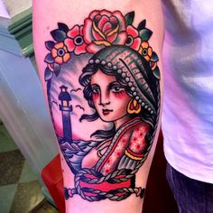 American traditional style here. #tattoo #tattoos #ink