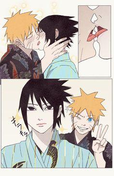 Naruto Shippuden Sasuke, Anime Naruto, Naruto And Sasuke Kiss, Wallpaper Naruto Shippuden, Naruto Comic, Naruto Cute, Naruto Wallpaper, Anime Guys, Boruto