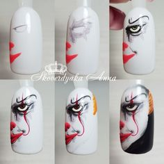 Halloween nails bloody fake nails scary nails fall fake nails press on nails nails for halloween 59 Halloween Nail Designs, Halloween Nail Art, Fall Halloween, Bling Wedding Nails, Cute Nails, Pretty Nails, Holloween Nails, Scary Nails, Gel Nagel Design