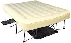Amazon.com: Ivation EZ-Bed (Twin) Air Mattress With Frame & Rolling Case, Self Inflatable, Blow Up Bed Auto Shut-Off, Comfortable Surface AirBed, Best for Guest, Travel, Vacation, Camping: Home & Kitchen