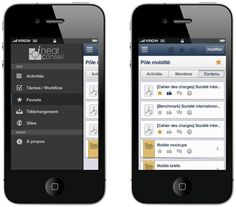 Sidebar iOS left nav  - UI - designer Thomas Delissen