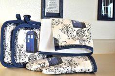 TARDIS Kitchen Linens by ShardsOfBlue - $45