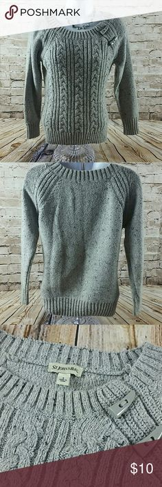 Womens Sweater Size  Small Womens Cotton Crew Neck Sweater St. John's Bay Sweaters Crew & Scoop Necks