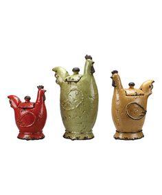Loving this Rooster Jar Set on #zulily! #zulilyfinds