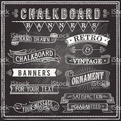 Vintage Chalkboard Banners royalty-free stock vector art