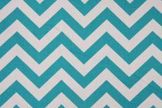 Premier Prints Zig Zag Printed Cotton Drapery Fabric in True Turquoise $7.95 per yard  CODE: 4206 37.5  Price: $7.95