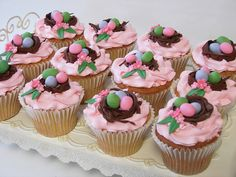 Easter nest cupcakes by cupcakeenvy, via Flickr