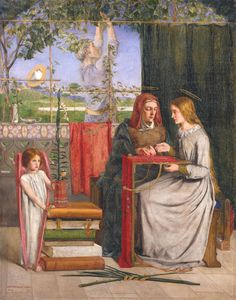 The Girlhood of Mary Virgin, Dante Gabriel Rossetti, 1848-49